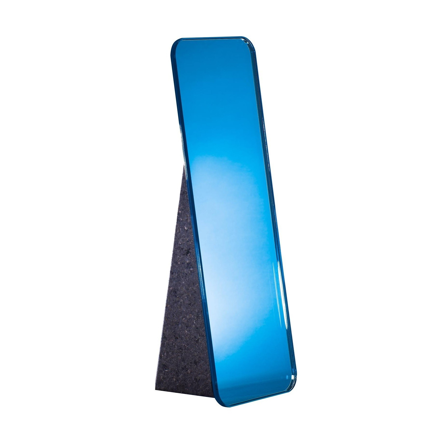 Pulpo Olivia Table Mirror H 38cm Cobalt Blue Pedestal