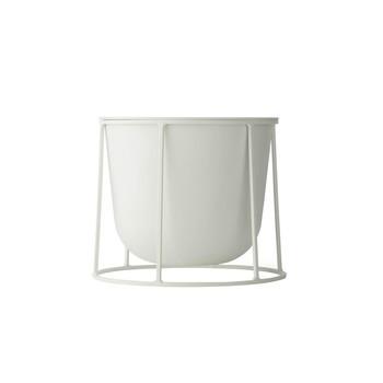 Menu - Wire Pot Blumentopf mit Gestell 20cm - weiß/pulverbeschichtet/H 20cm, Ø 23cm