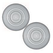 iittala - Kastehelmi Platzteller Set - grau/Ø 31,5cm / 2 Stück