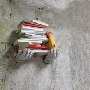 Minottiitalia - MiMi' Ablage/Kleiderhaken - aluminium/Lieferumfang nur Händepaar/mit Arbeitshandschuhen in Leder