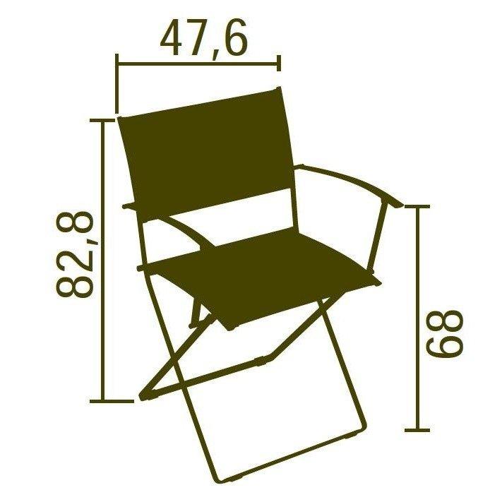 fermob plein air folding armchair ambientedirect