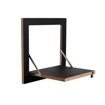AMBIVALENZ - Fläpps Regal 40x40 - schwarz/Kante Holz/lackiert/B x H x T: 40 x 40 x 18cm