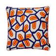 HAY - Kissen Printed Cushion - Zungen/mit Federfüllung/50x50cm