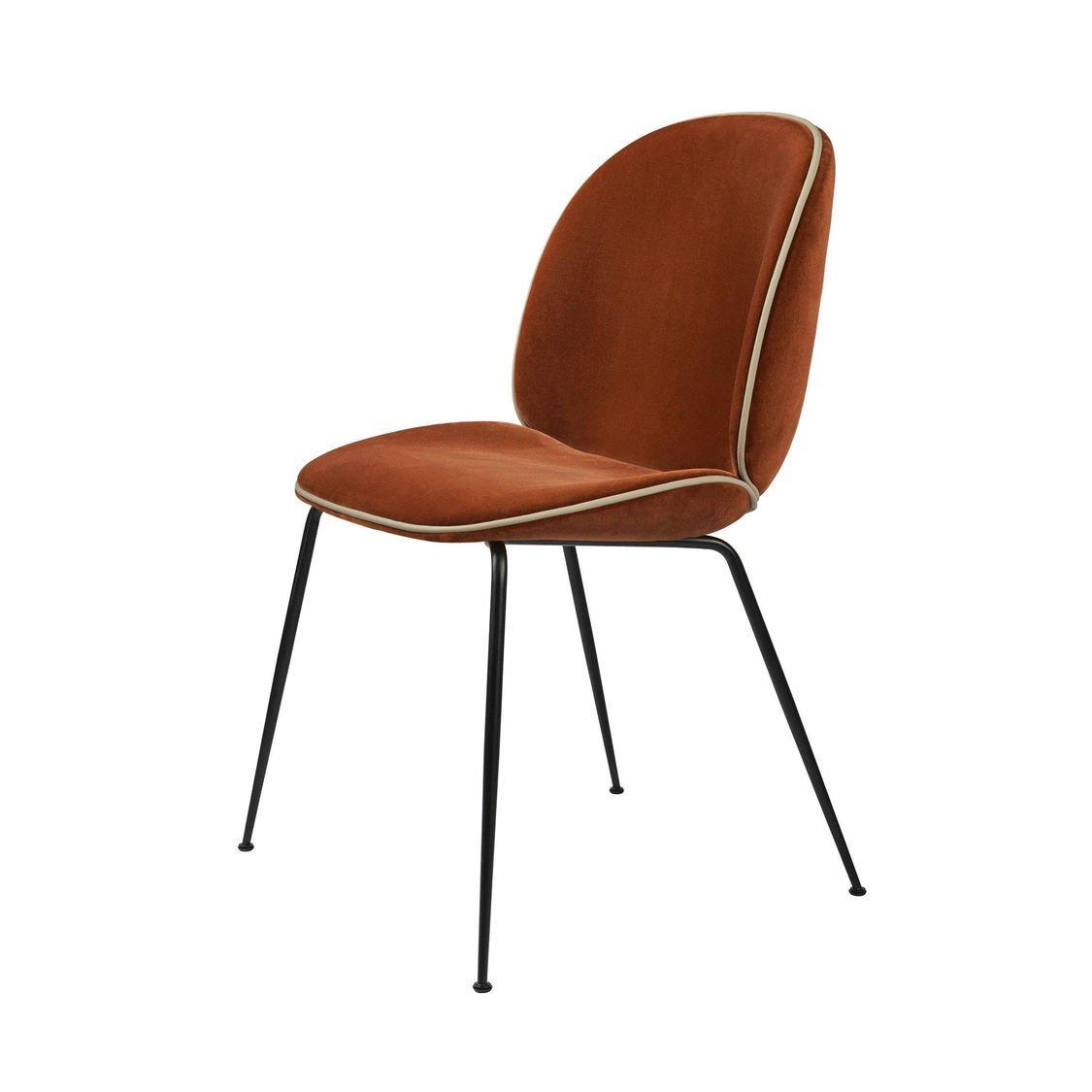 beetle chair chaise velours structure noir gubi. Black Bedroom Furniture Sets. Home Design Ideas
