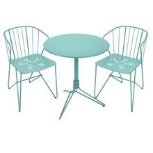 Fermob - 2 Flower Gartenstühle + 1 Flower Gartentisch