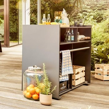 Conmoto - Ticino Buffet Outdoor Serviermodul - anthrazit/120x93x50cm