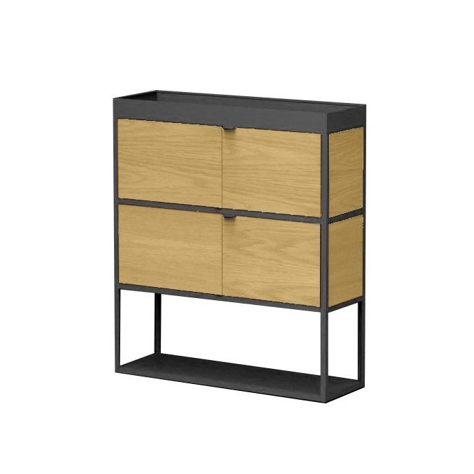new order shelf with door 100x115cm hay. Black Bedroom Furniture Sets. Home Design Ideas