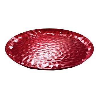 Alessi - Joy Tablett  - rot/lackiert mit Emaille-eEffekt/Ø 40cm