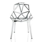 Magis - Chair One Stuhl Stapelbar - aluminium/poliert/Beine aus Profilaluminium poliert/nur für den Innenbereich