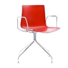 Arper - Catifa 46 Armlehnstuhl einfarbig mit Sternfuß