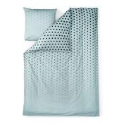 Normann - Cube Bettwäsche - hellblau/Decke 200x140cm/Kissen 60x63cm
