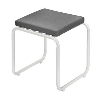 Skagerak - Fuori Sitzkissen für Hocker  - aschgrau/Stoff Barriere® Panama/LxBxH 40x40x5cm/ohne Hocker