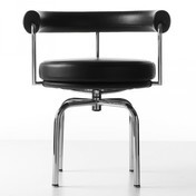 Cassina - Le Corbusier LC7 Dreh-/Armlehnstuhl - grafite schwarz/Leder LCX 13X414/Gestell chrom