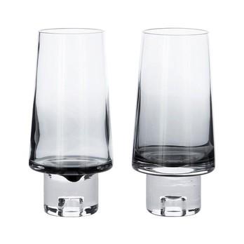 Tom Dixon - Tank High Ball Glas 2er Set - schwarz/mundgeblasen/H 16.5cm/Ø 8cm