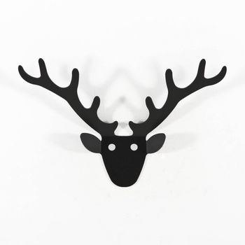 Radius - Trophäe Mini Wall-Mounted Coatrack - black/matt/powder-coated steel