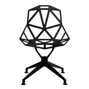 Magis - Chair One 4Star Drehstuhl - schwarz/lackiert/für den Außenbereich geeignet