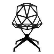 Magis - Chair One 4Star Drehstuhl - schwarz/lackiert/für Innen- und Außenbereich geeignet