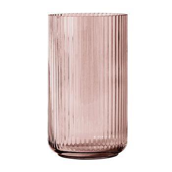 Lyngby Porcelæn - Lyngby Glas Vase H15cm - burgunderrot/mundgeblasenes Glas/Ø8cm