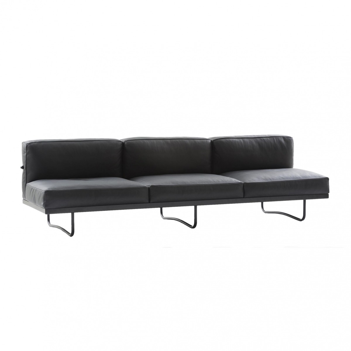 le corbusier lc5 3 seater sofa cassina. Black Bedroom Furniture Sets. Home Design Ideas