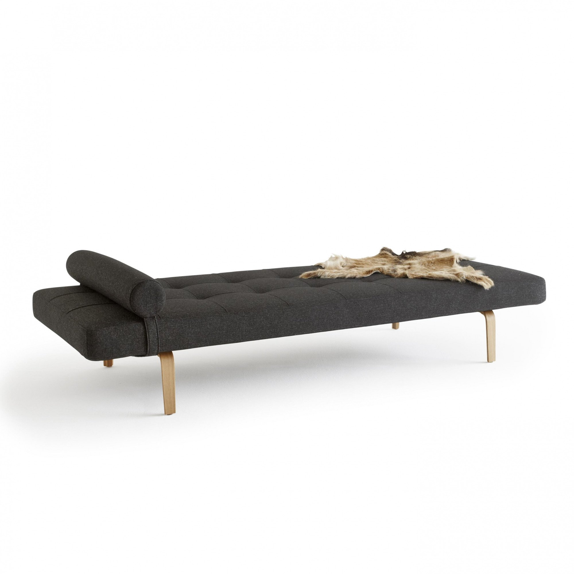 GroBartig ... Innovation   Napper Sofa Bed   Anthracite / Frame Oak/fabric 533  Coastal Dark Shadow