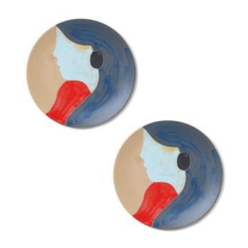 ferm LIVING - Tala Keramik Teller 2er Set