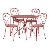 Fermob - 1900 Garten-Set 4 Stühle