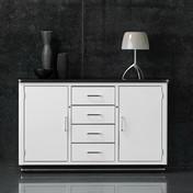 müller möbelfabrikation - Classic Line SB 123 Sideboard - weiß/Sockel schwarz