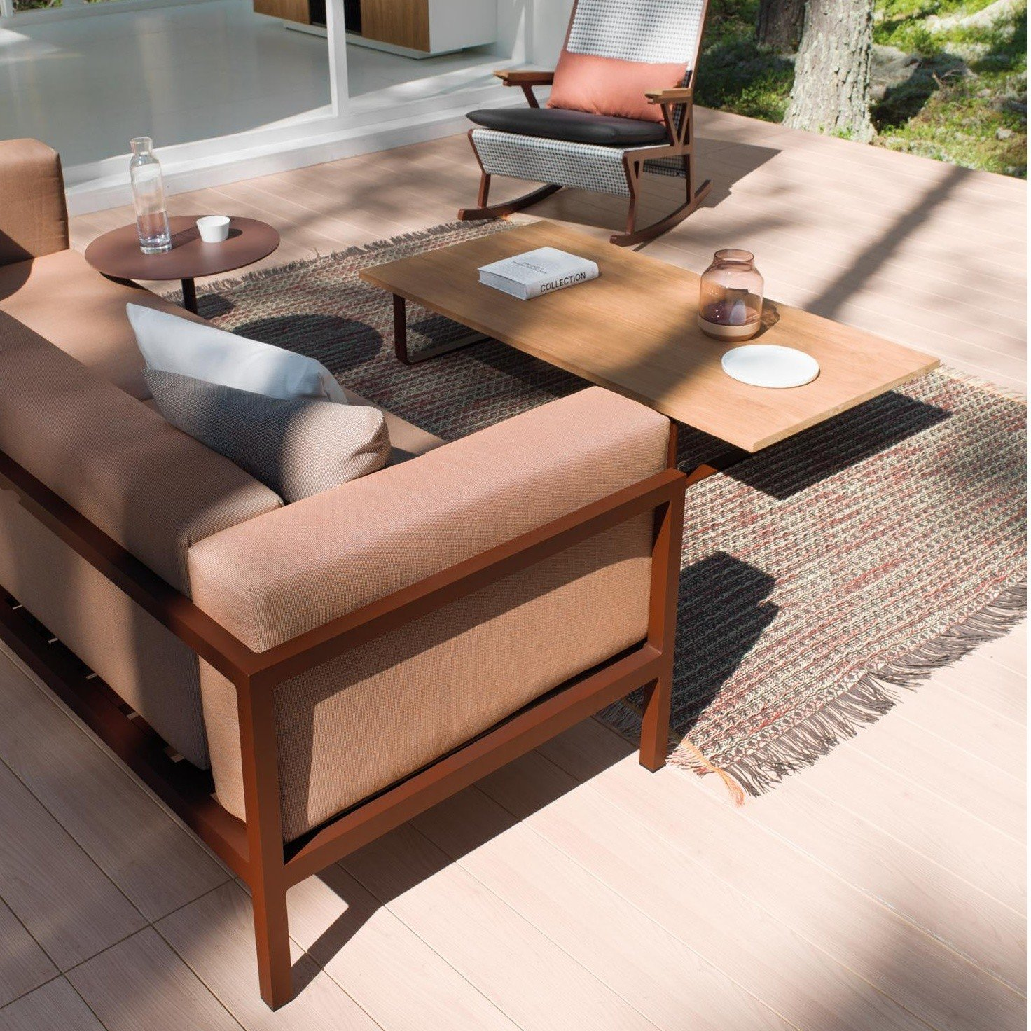 Kettal Landscape - Sofá de jardín de 2 asientos XL | AmbienteDirect