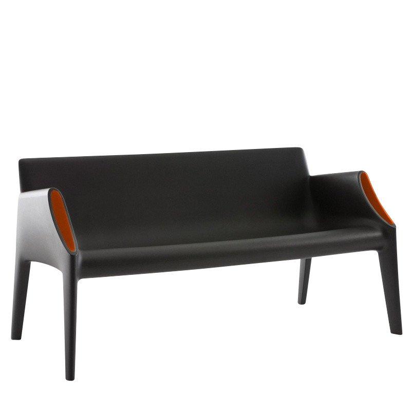 ... Kartell   Magic Hole Sofa   Black/orange ...