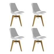 MDF Italia - Flow Stuhl Füße in Eiche 4er Set