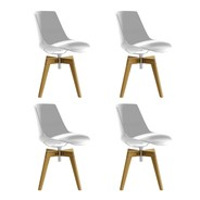 MDF Italia - Flow Chair With Oaken Legs Set OF 4