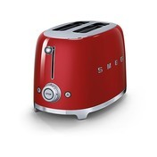 Smeg - SMEG 2-Scheiben Toaster TSF01 - rot/lackiert/6 Röstgradstufen/31x19,5x19,8cm