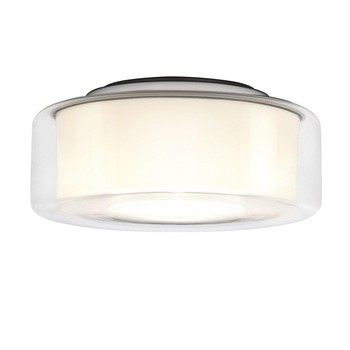 Serien - Curling Ceiling HALO Ceiling Lamp - transparent/opal reflector cylindri/Ø25cm/460lm