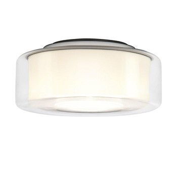 Serien - Curling Ceiling HALO-Deckenleuchte - transparent/opal Reflektor zylindri/Ø25cm/460lm