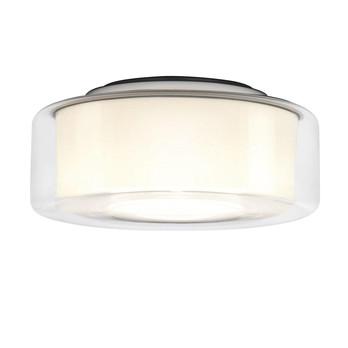 Serien - Curling Ceiling HALO Ceiling Lamp - transparent/opal reflector cylindri/Ø25cm/460lm