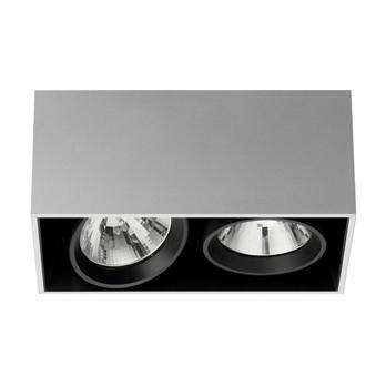 Flos - Compass Box 2 Deckenleuchte - aluminium/eloxiert/Trafo integriert