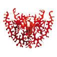 Lumen Center Italia - Coral 21 Wandleuchte - rot/Metall/Gehäuse lackiert