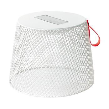 emu - Ivy Pouf / Beistelltisch - weiß /mit Solarleuchte/matt