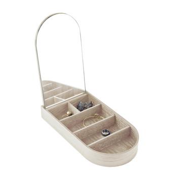 Menu - Jewellery Box Schmuckkästchen - eiche/gebeizt/5 Fächer/Innenseite mit Spiegel
