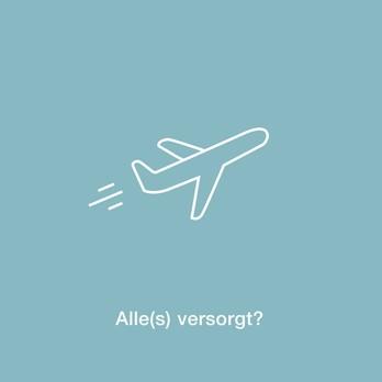 Flugzeug Motiv mit der Frage, alle versorgt?