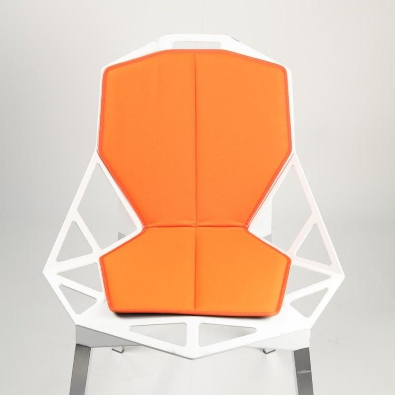 chair one. magis - chair one seat cushion with backrest orange/stoff kvadrat tempo/orange