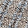 GAN - Garden Layers Small Roll Checks Kissen - blau/Handwebstuhl/LxBxH 78x25x25cm