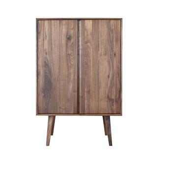 ADWOOD - Costima Kommode hoch - nussbaum/geölt/mit 2 Türen/102x150x45cm