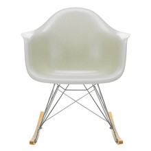 Vitra - Eames Fiberglass RAR schommelstoel onderstel verchroomd