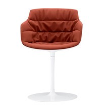 MDF Italia - Flow Slim Armchair Central Leg Upholstered