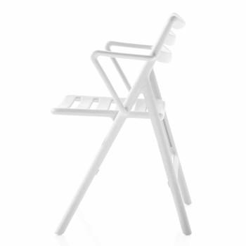 Magis - Folding Air Chair mit Armlehnen - weiß/Polypropylen/klappbar