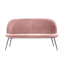 Gubi - Beetle Sofa Velvet Black Base