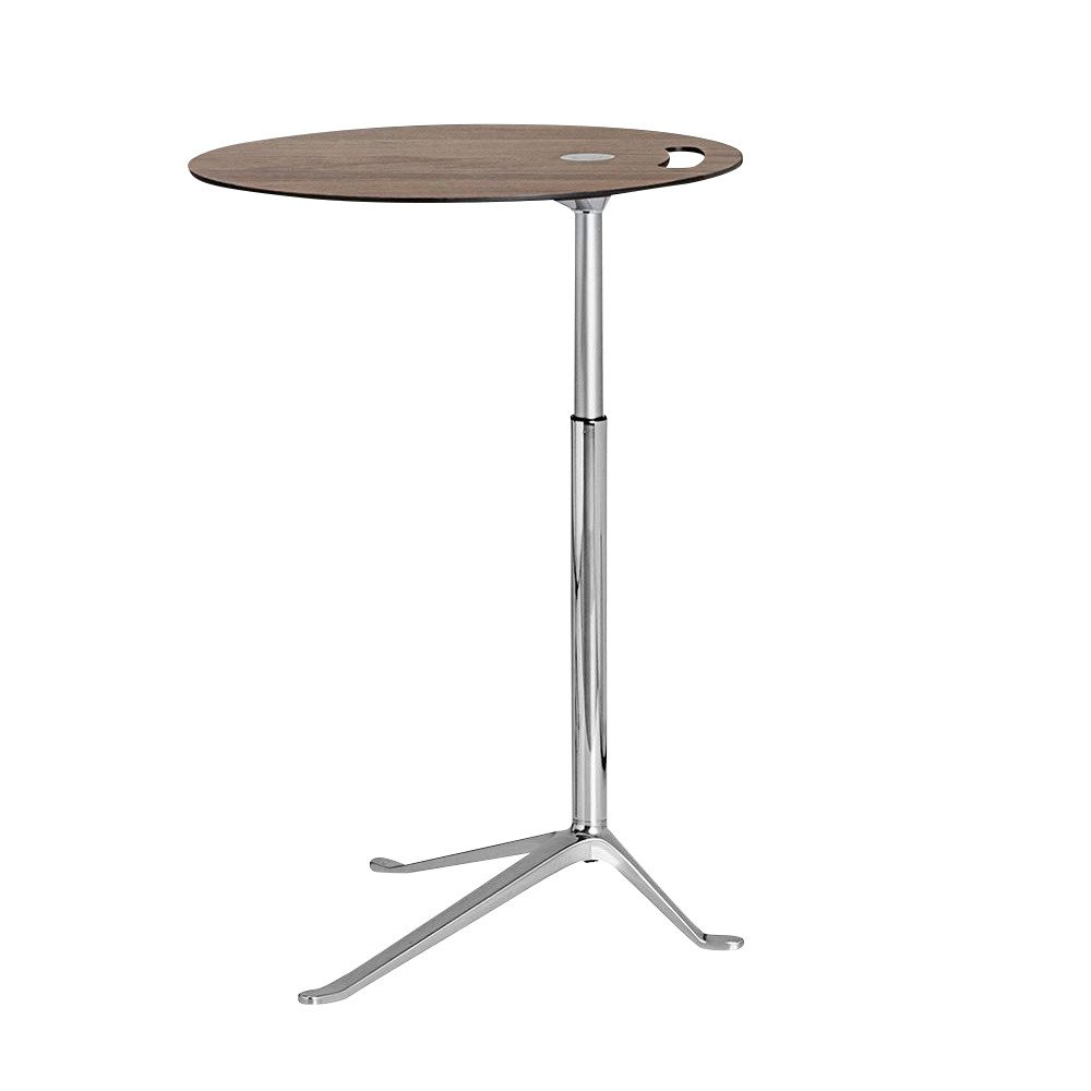 Fritz Hansen   Little Friend Side Table Frame Polished   Walnut/height  Adjustable ...