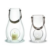 - Design with Light Latene Set - transparent/H: 16cm + 24,8cm/2 Laternen