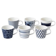 Royal Doulton - Set de 6 tasses Pacific